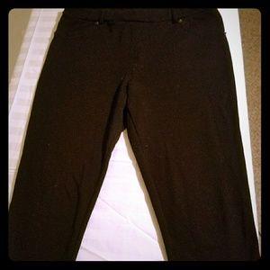 long black casual black pants